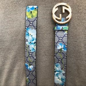 🔥 NEW GUCCI FLORAL LEATHER BELT